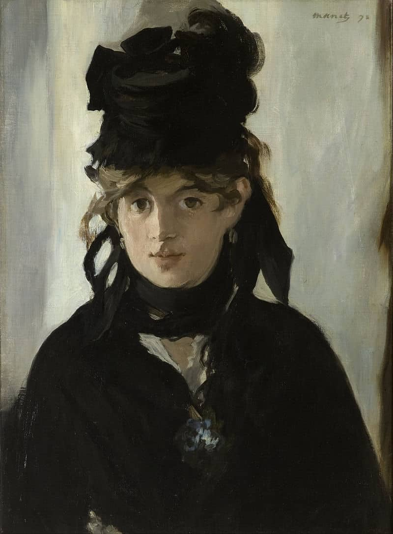 Edouard Manet Berthe Morisot With a Bouquet of Violets Google Art Project