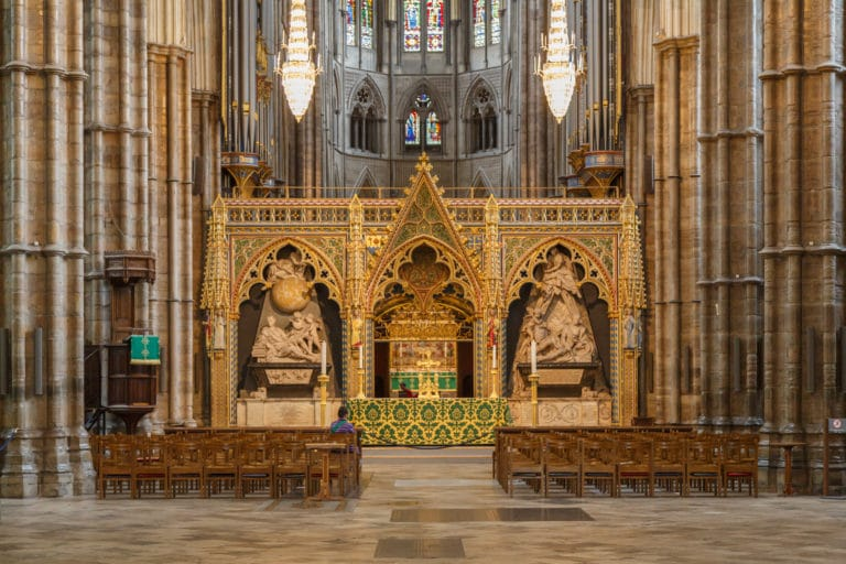 London UK Interior of Westminster Abbey 01